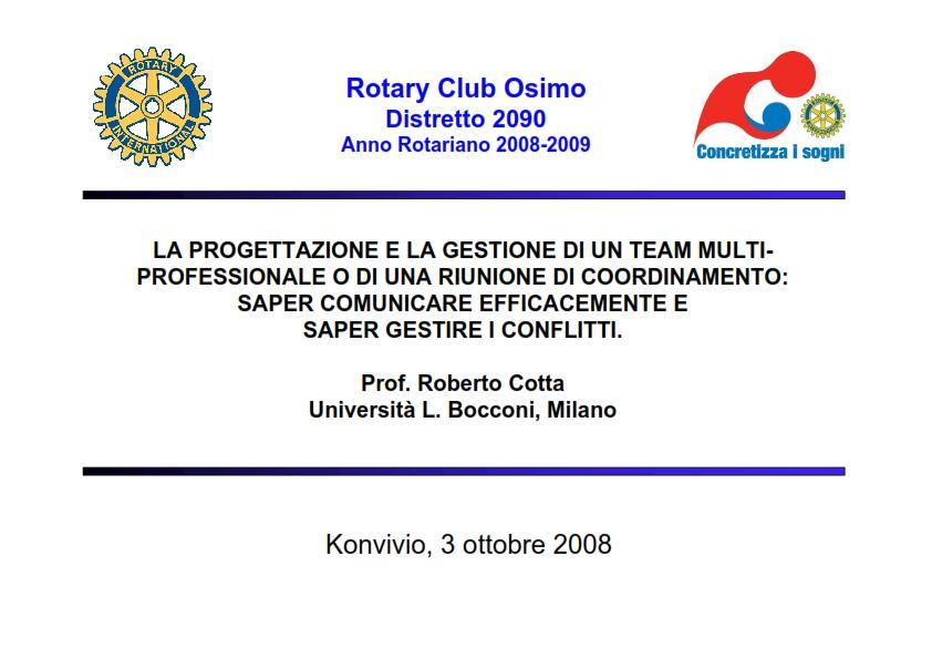 2008-10-03_Incontro con il prof. Roberto Cotta, Università Bocconi